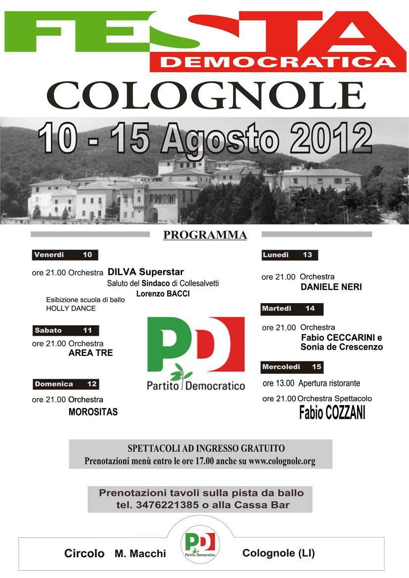 Programma Festa Democratica 2012